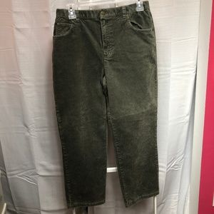 Jones New York green stretch corduroy pants